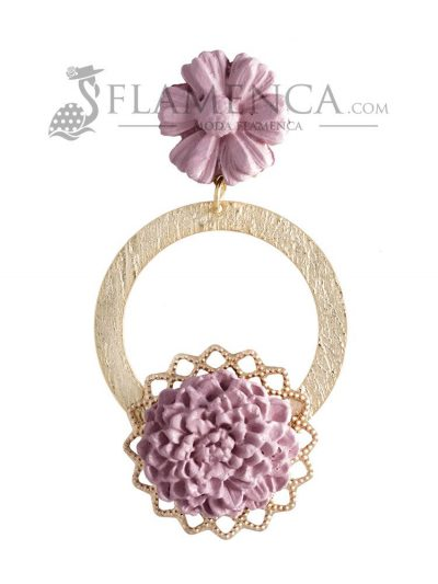 Porcelain flamenco earring in makeup color