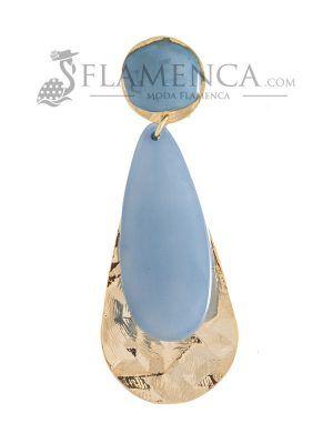 Pendiente de flamenca de resina cristal ducado