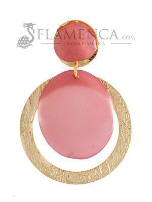 Pendiente de flamenca de resina cristal maquillaje