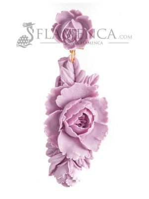 Mauve resin flamenca earring