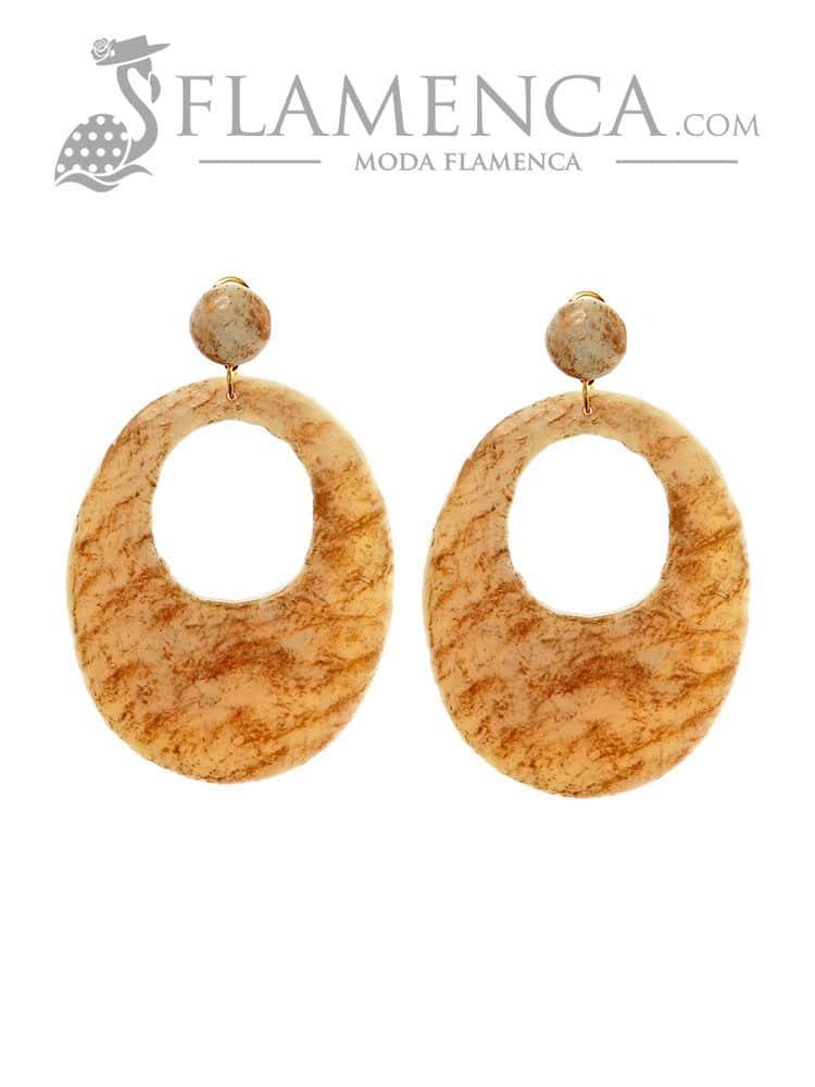 0ffbda828 Pendiente flamenca resina marfil y reflejo oro | Flamenca - Moda ...