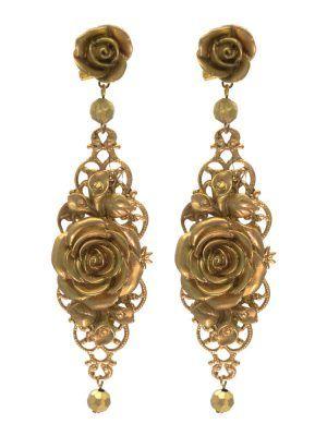 Pendiente de flamenca dorado con reflejos oro