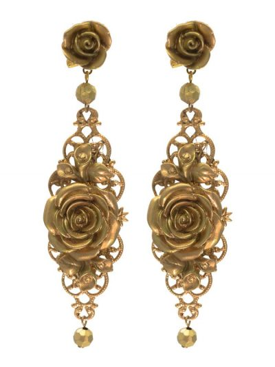 Golden flamenco earring with gold highlights