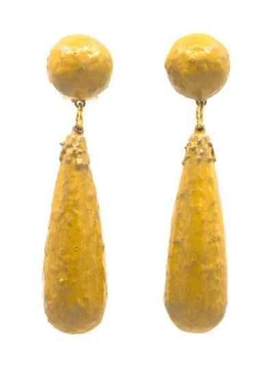 Flamenca earring cracked mustard tear