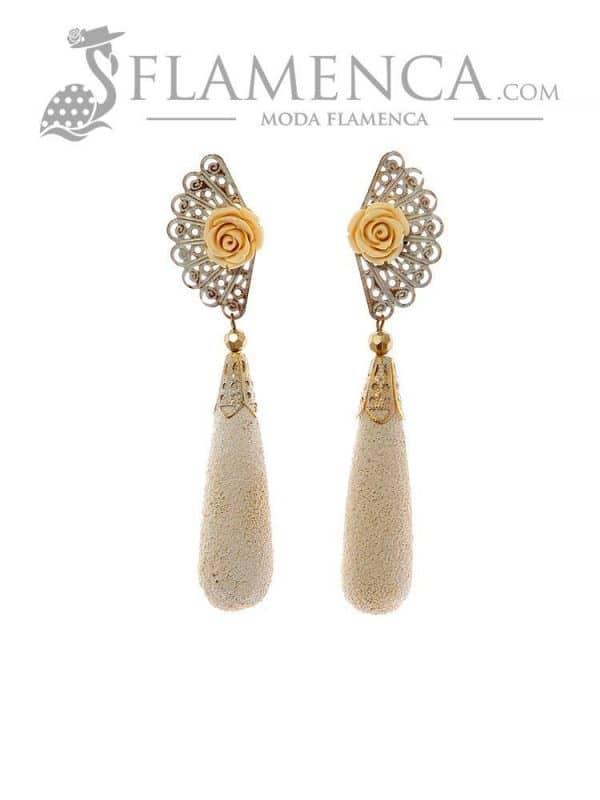 Ivory flamenco earring