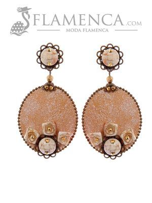 Ivory flamenco earring