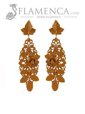 Mustard flamenco earring