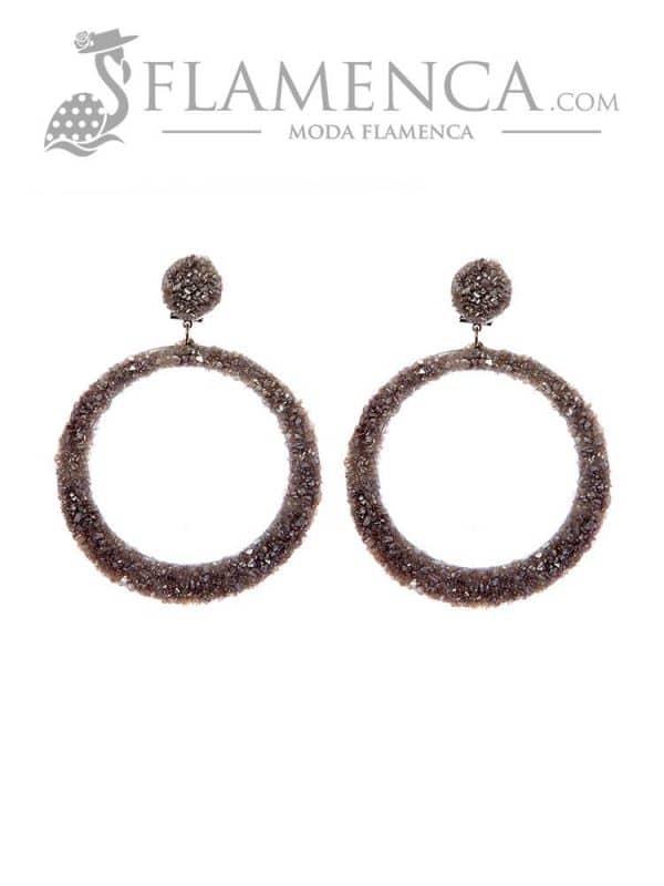 Flamenco silver earring