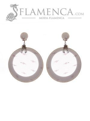 Flamenco silver earring