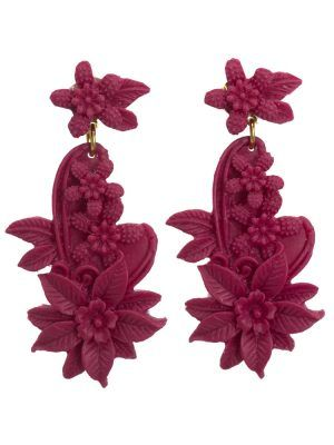 Bougainvillea floral resin flamenco earring