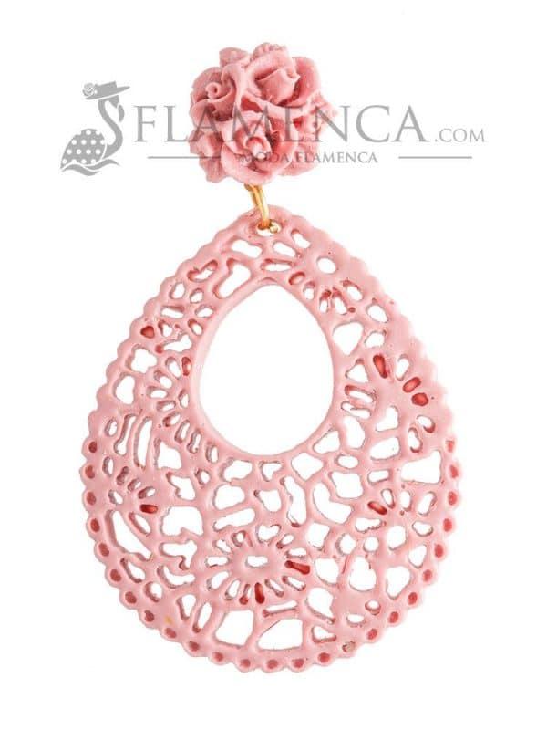 Pendientes de flamenca de resina maquillaje