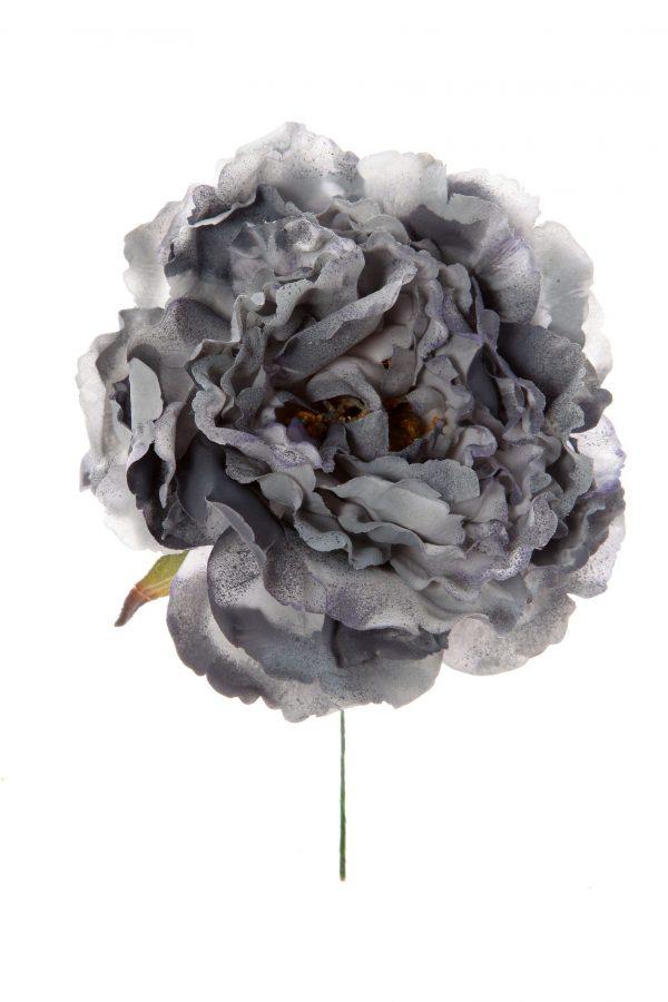 Peonia de flamenca colo gris con reflejos plata