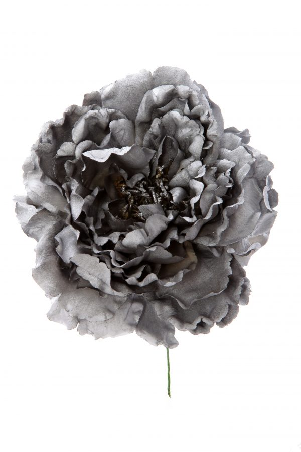 Peonia de flamenca color plata