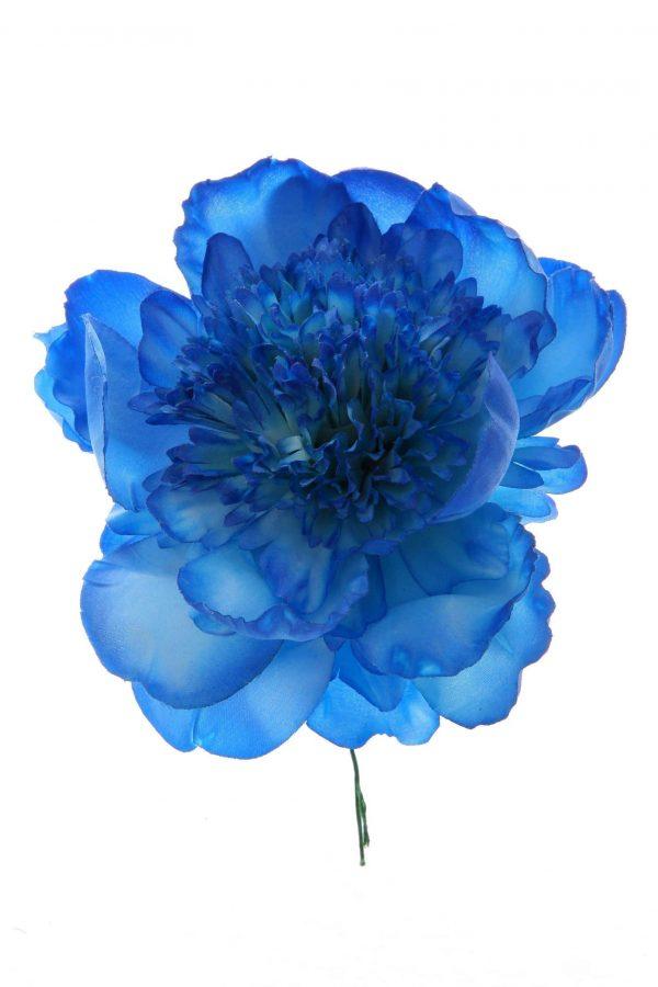 Peonia rizada color azulina
