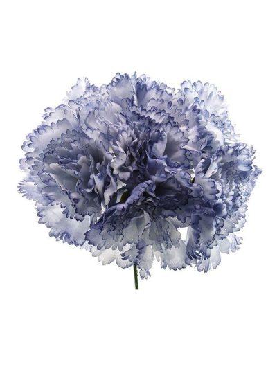 Ramillete de claveles azul ducado