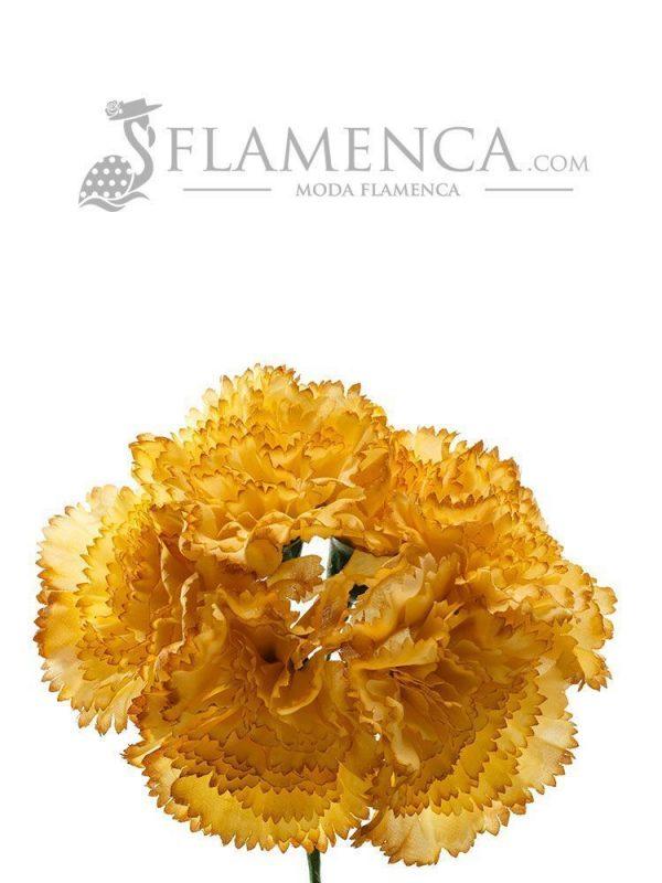 Bouquet of mustard carnations