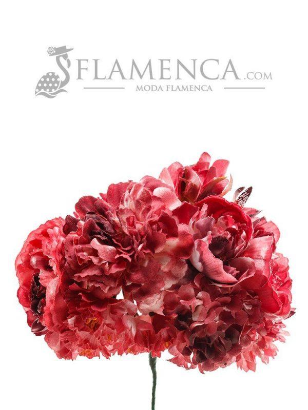 Burgundy flamenco bouquet
