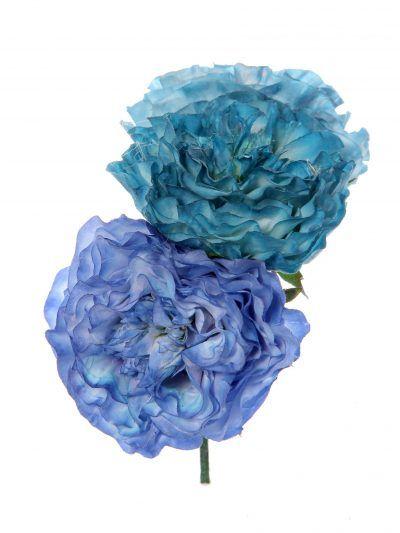 Ramillete de flamenca en tonos azules degradé