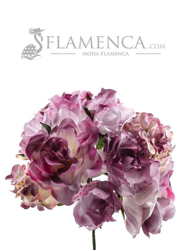 Flamenco bouquet in mauve tones