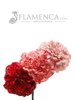 Ramillete de flamenca en tonos maquillaje degradados