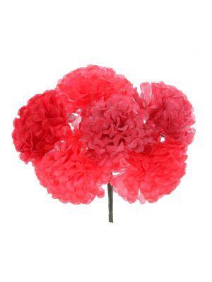 Ramillete de flamenca en tonos rojos