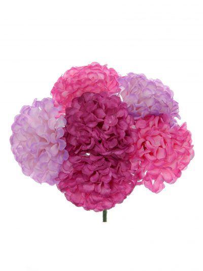 Ramillete de flamenca en tonos rosa, malva y buganvilla