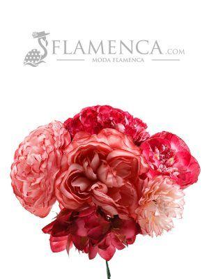 Ramillete de flamenca maquillaje y carmín