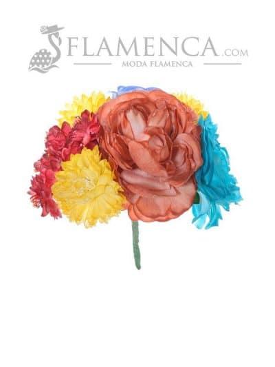 Ramillete de flamenca multicolor