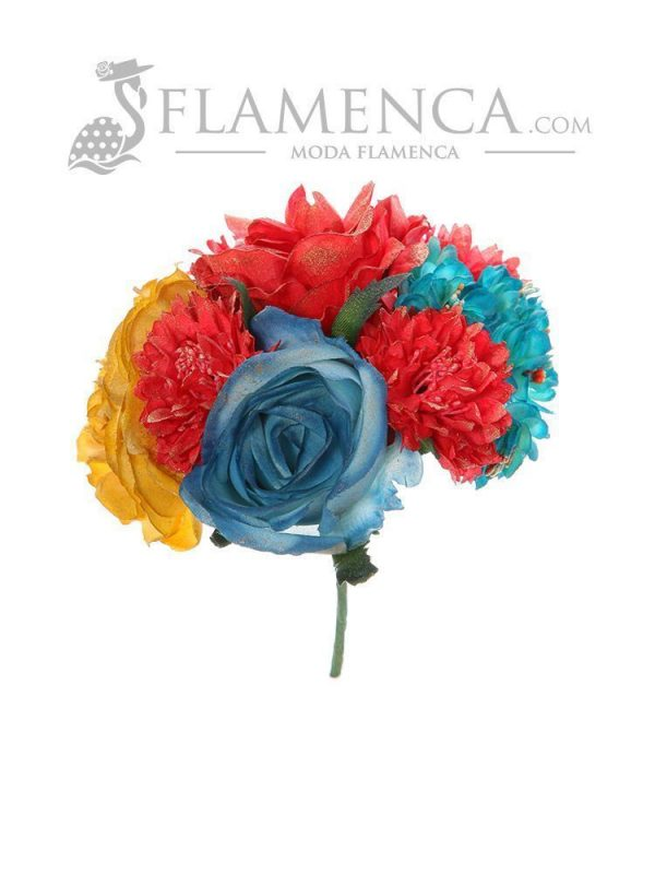 Multi-colored flamenco bouquet