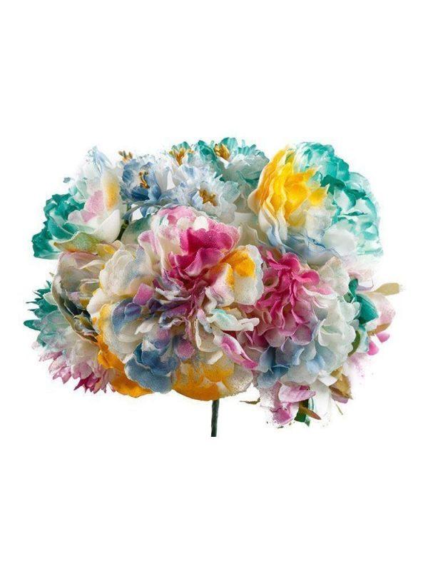 Ramillete de flamenca multicolor degradado