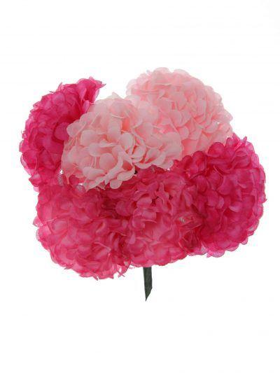 Ramillete de flamenca en tonos rosa y buganvilla