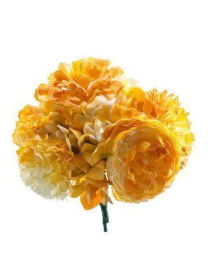 Ramillete de flamenca tonos amarillos