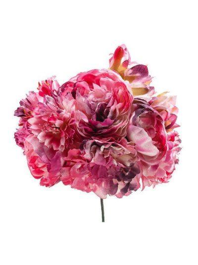 Ramillete de flamenca tonos buganvilla