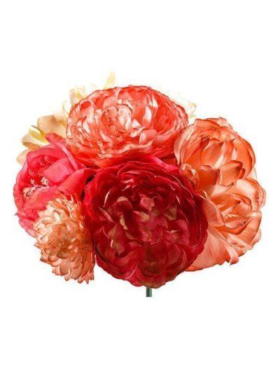 Ramillete de flamenca tonos corales