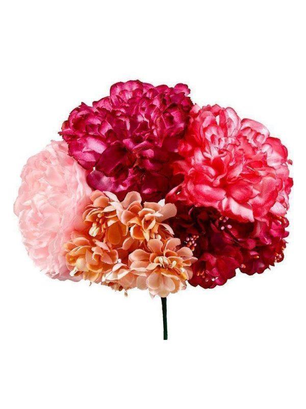 Ramillete de flamenca tonos fucsias y rosas