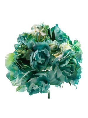 Flamenco bouquet in water green shades