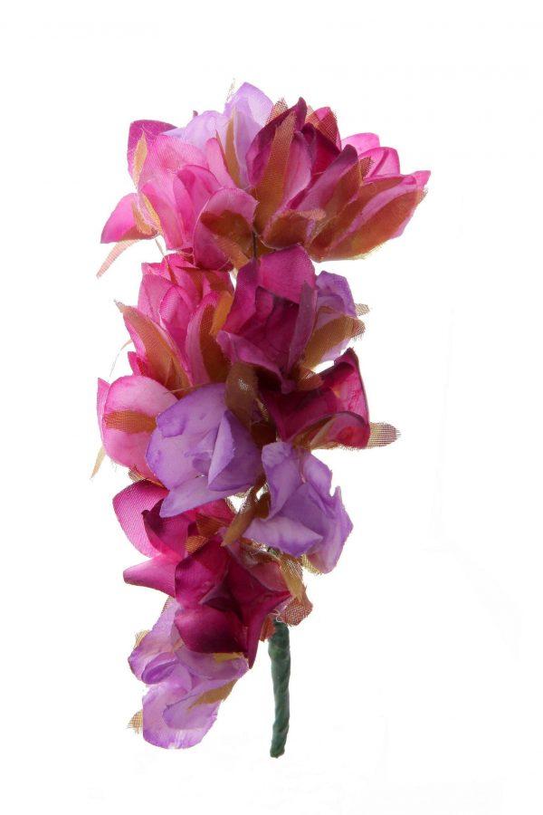 Ramillete de flores de flamenca tonos degradé de morados