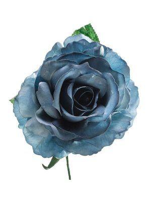 Rosa de flamenca azul zafiro