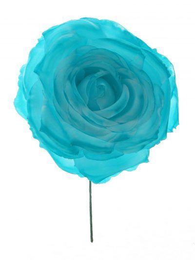 Rosa de flamenca color aguamarina