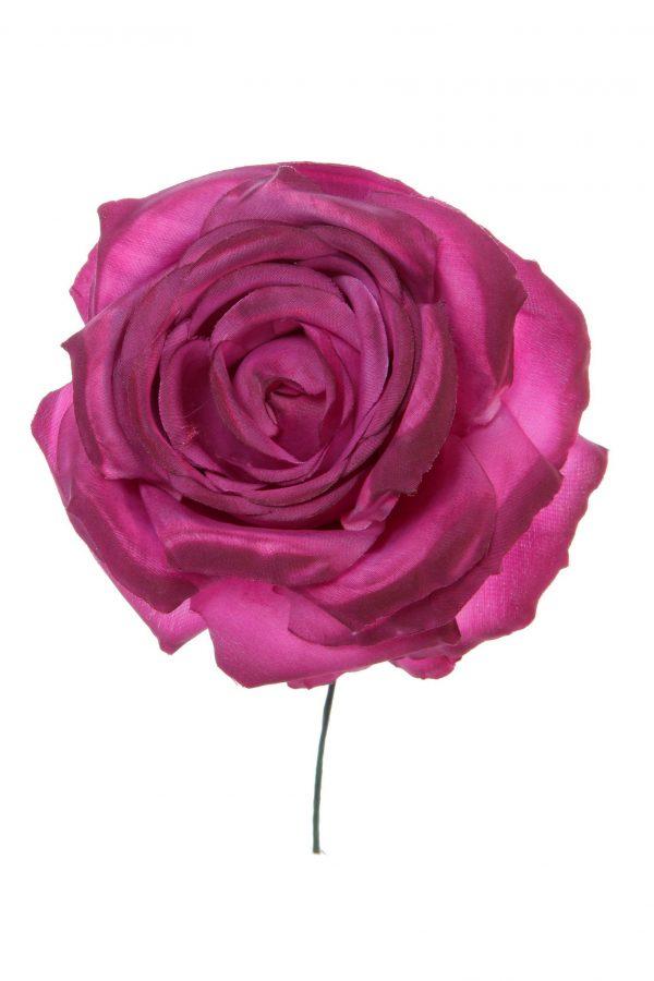 Rosa de flamenca color cardenal