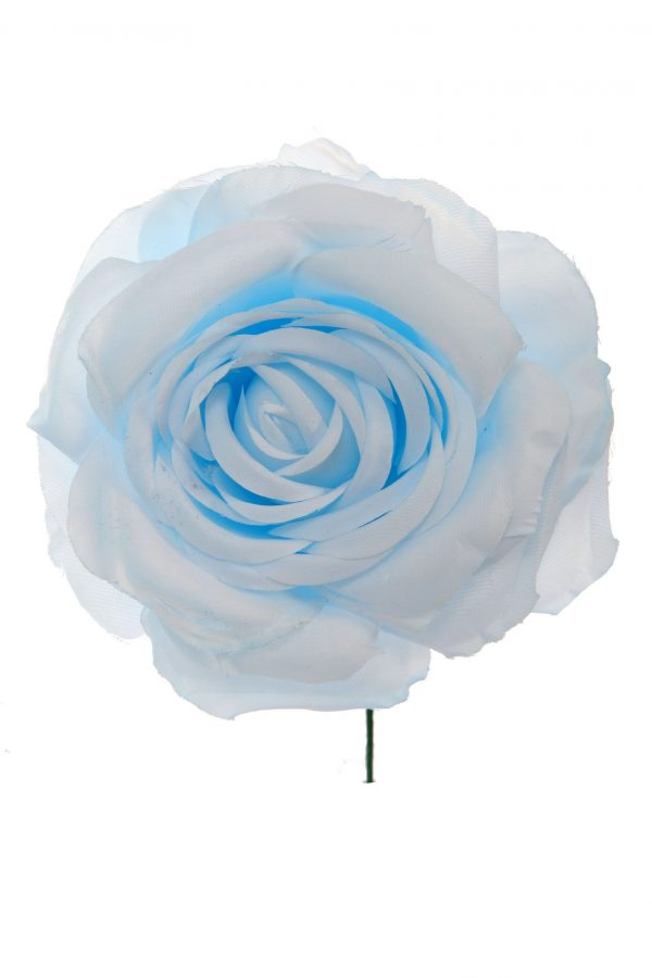 Rosa de flamenca color celeste