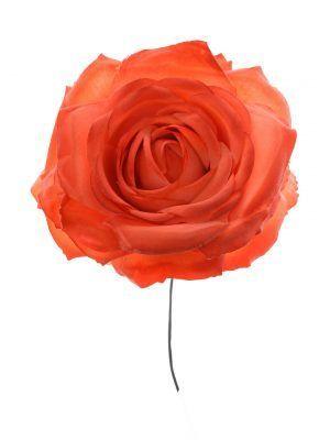 Rosa de flamenca color coral