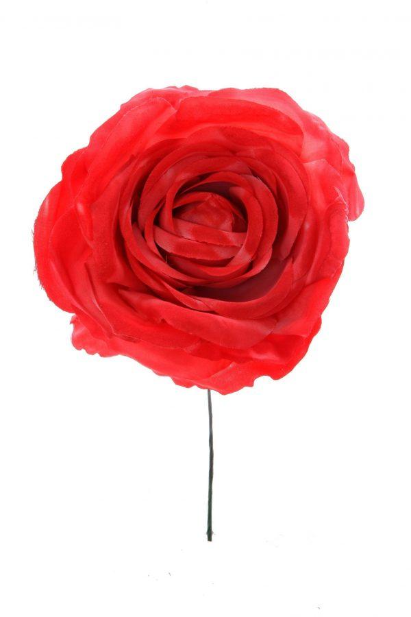 Rosa de flamenca color coral degradé