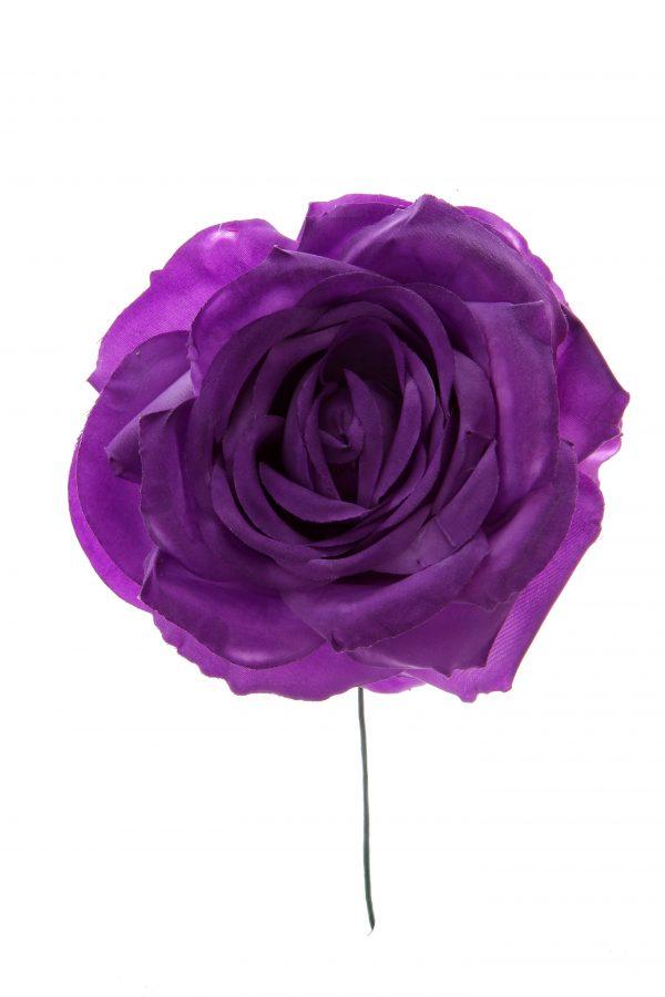 Rosa de flamenca color morado