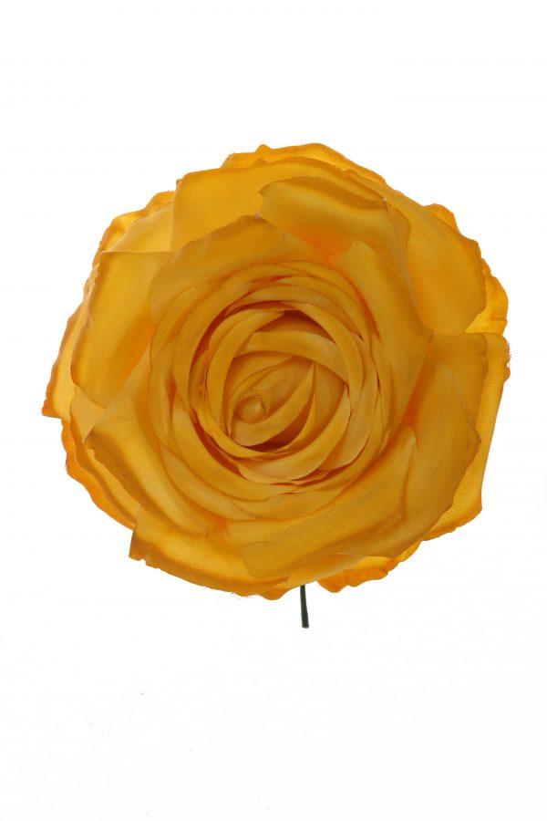 Rosa de flamenca color mostaza degradé