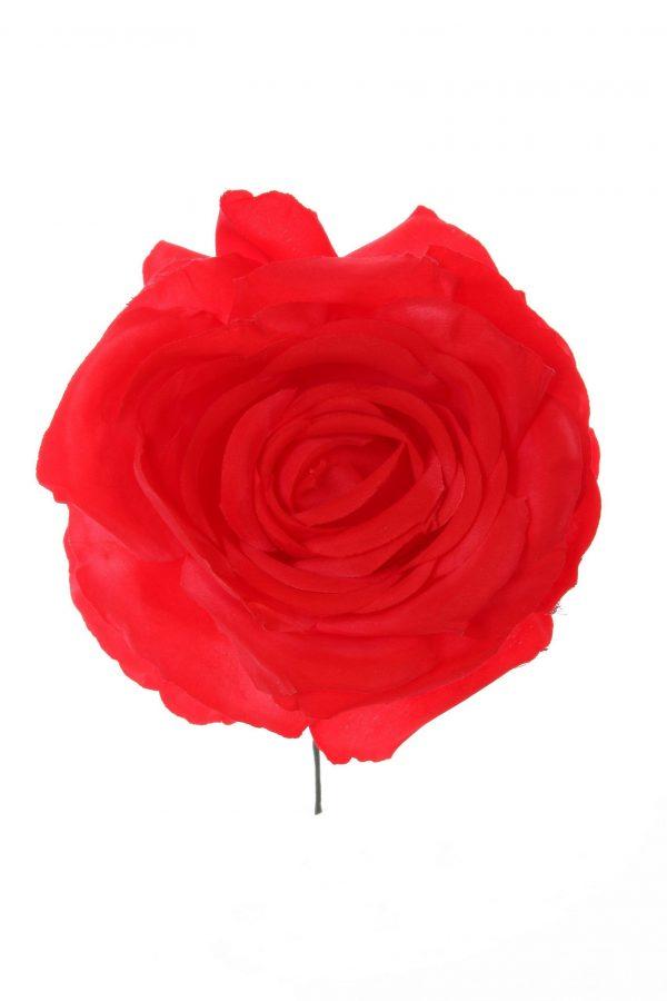 Rosa de flamenca color rojo
