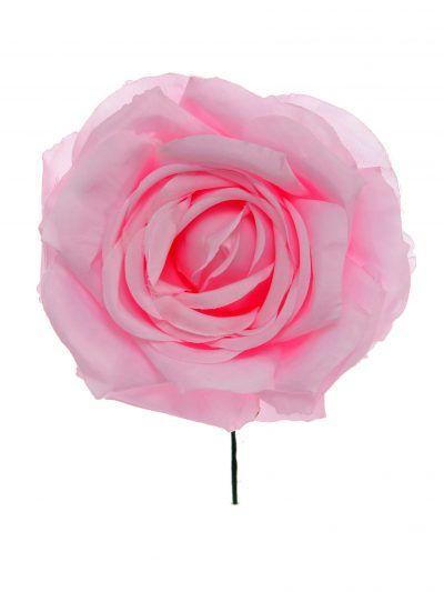 Rosa de flamenca color rosa bebé