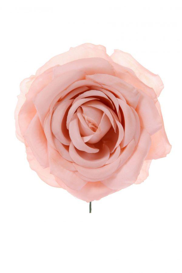 Rosa de flamenca color rosa claro