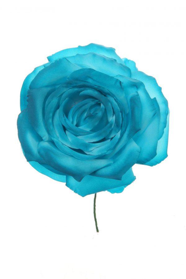 Rosa de flamenca color turquesa