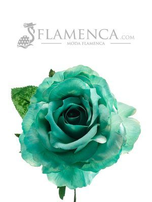 Green water flamenco rose